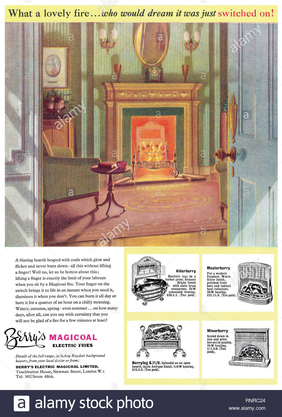 Fireplace Reflectors Inspirational 1956 British Advertisement for Berry S Magicoal Electric