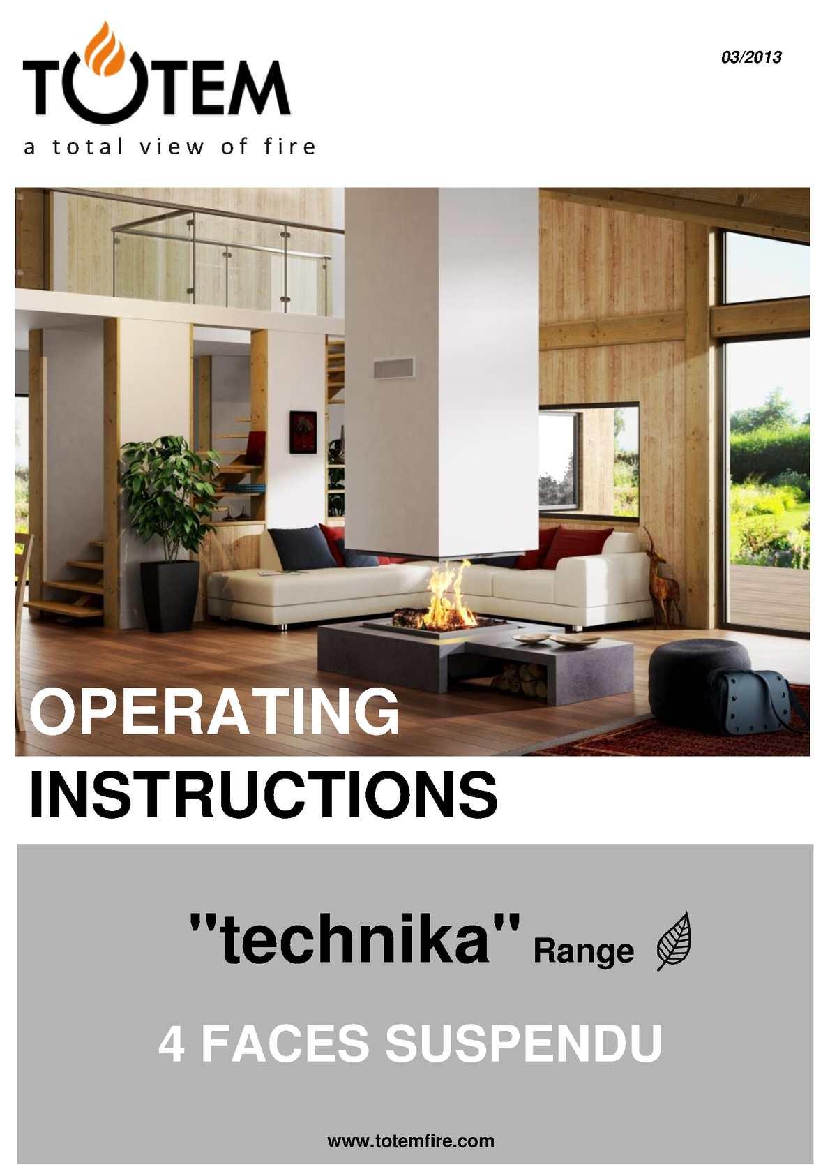 Fireplace Reflectors New Calaméo Operating Instruction4faces Suspendu Fireplace Gb