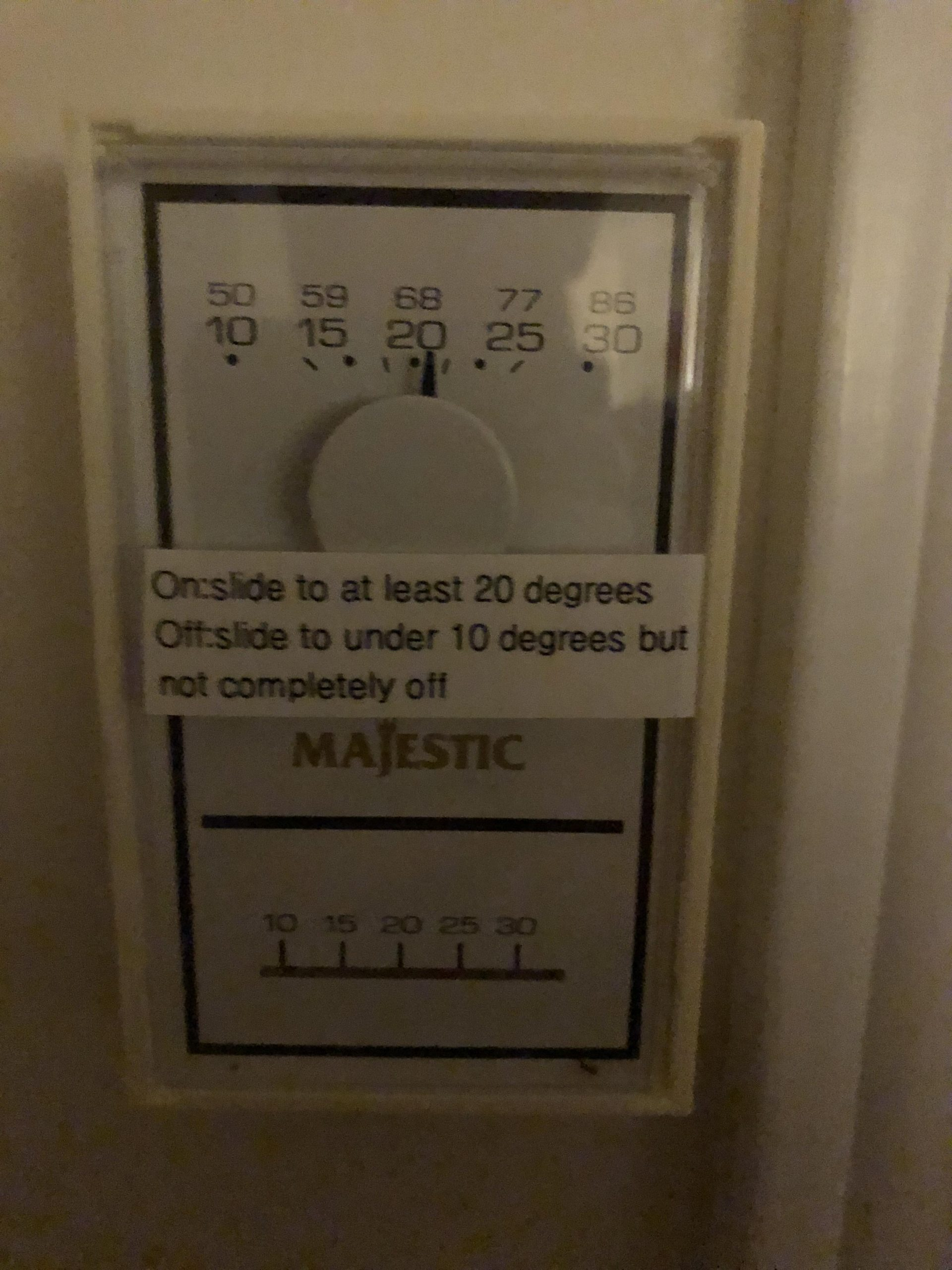 gas fireplace thermostat re mended device