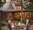 Georgetown Fireplace and Patios Beautiful Stone Firepit Woodsy Backyard with Stone Firepit and Stone