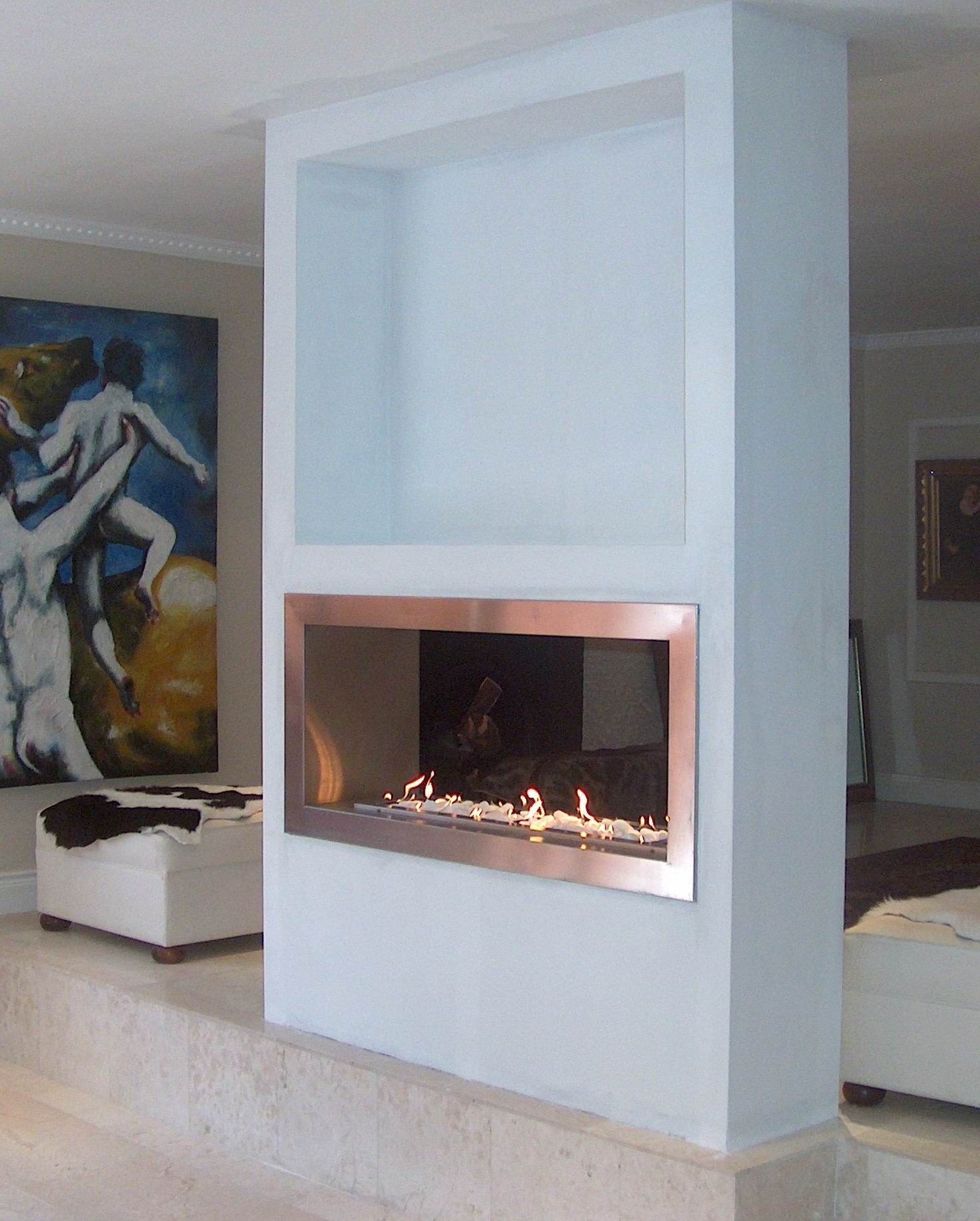 In Wall Gas Fireplace Fresh I Know which Wall I Want A Double Sided Fire Place On D