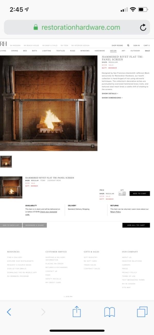 restoration hardware fireplace screen f5d0af73 525e 4be9 b350 f53b8aef2df2