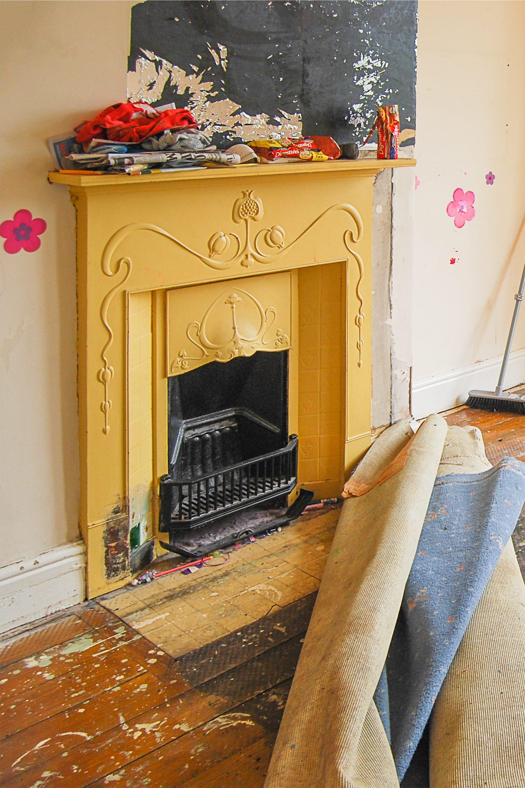 Edwardian Fireplace Restoration Before scaled