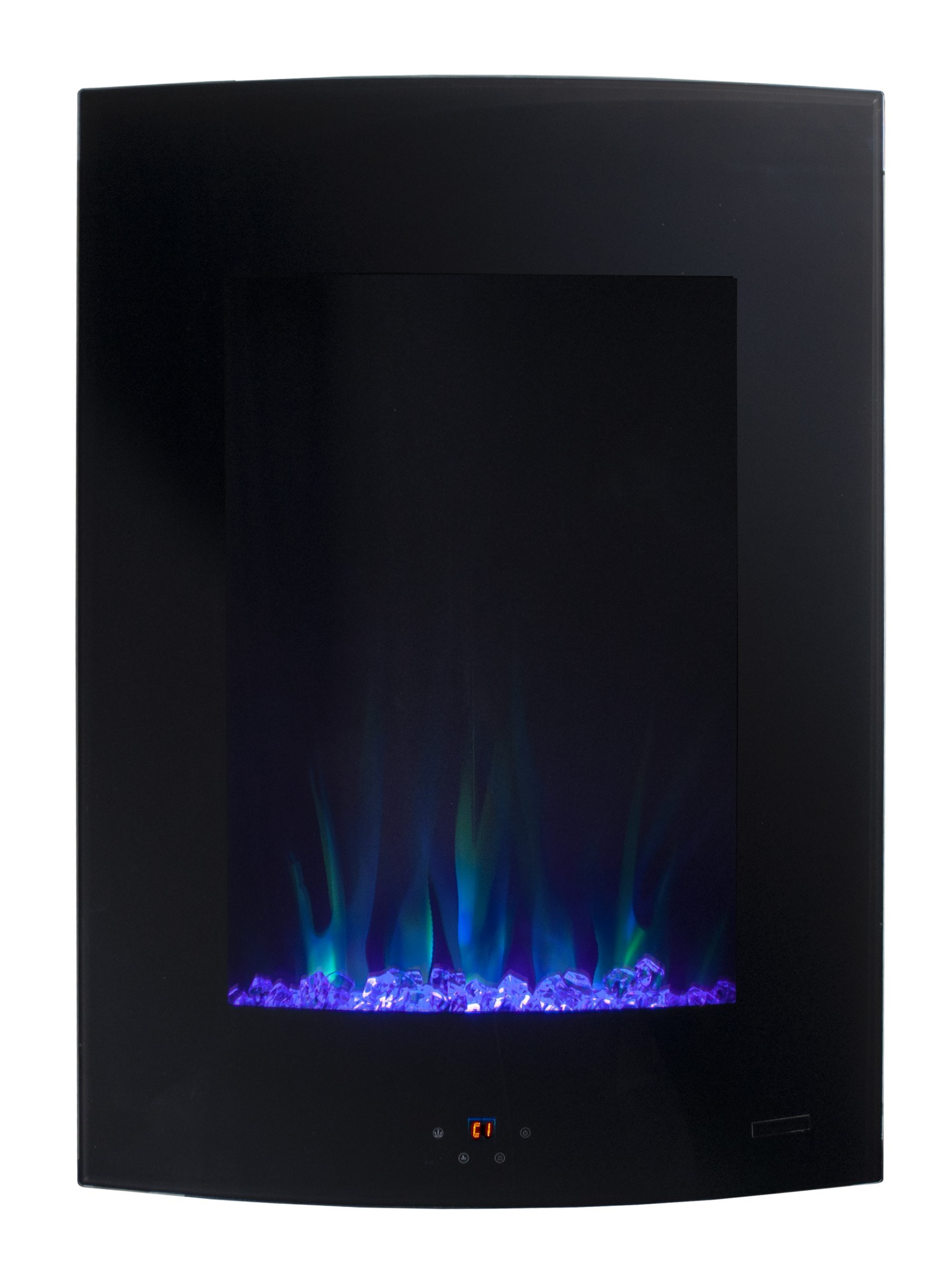 paramount cambridge wall mount 268 in x 1945 in black electric fireplace