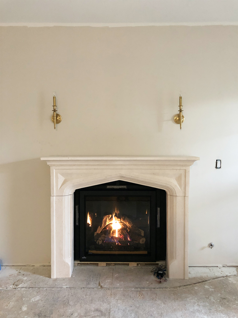 Wood Fireplace Inserts Lowes New Interiors & Styling Fireplace Makeover Cast Mantel