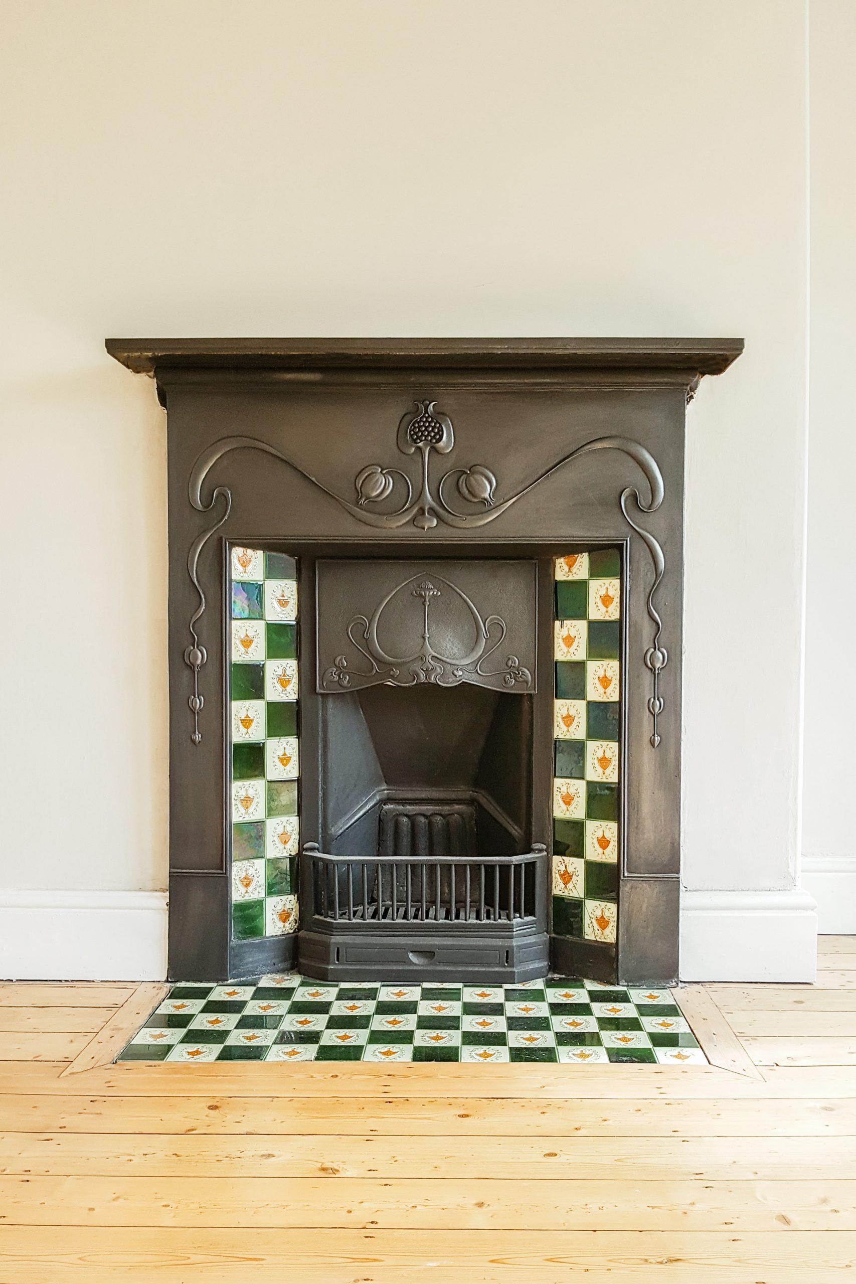 Restored Cast Iron Fireplace Farrow Ball Skimming Stone Walls scaled