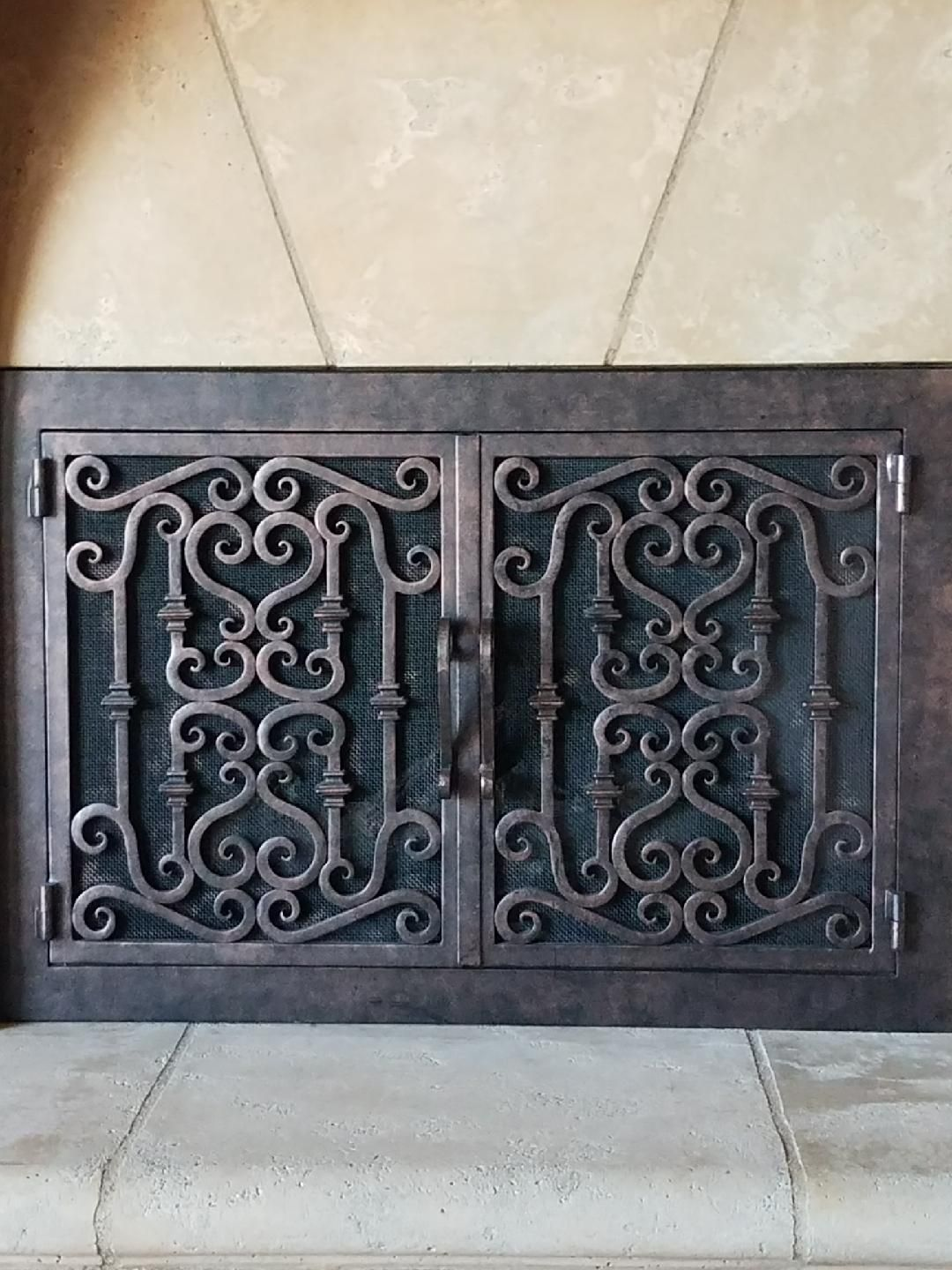 Wrought Iron Fireplace Door Lovely Fireplace Doors Fireplace Mantel Fireplace Remodel Rustic