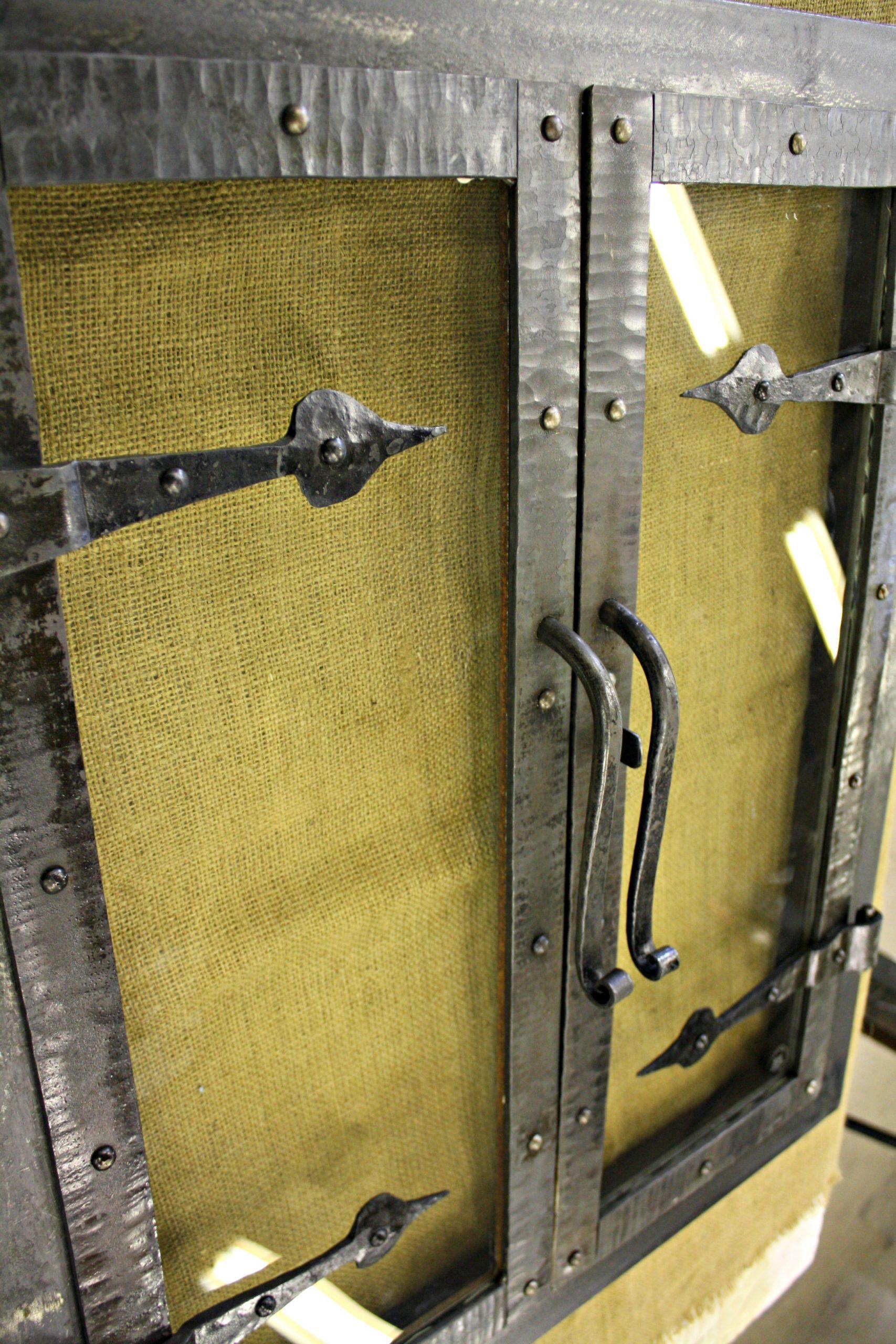 Fireplace Doors with hidden latch