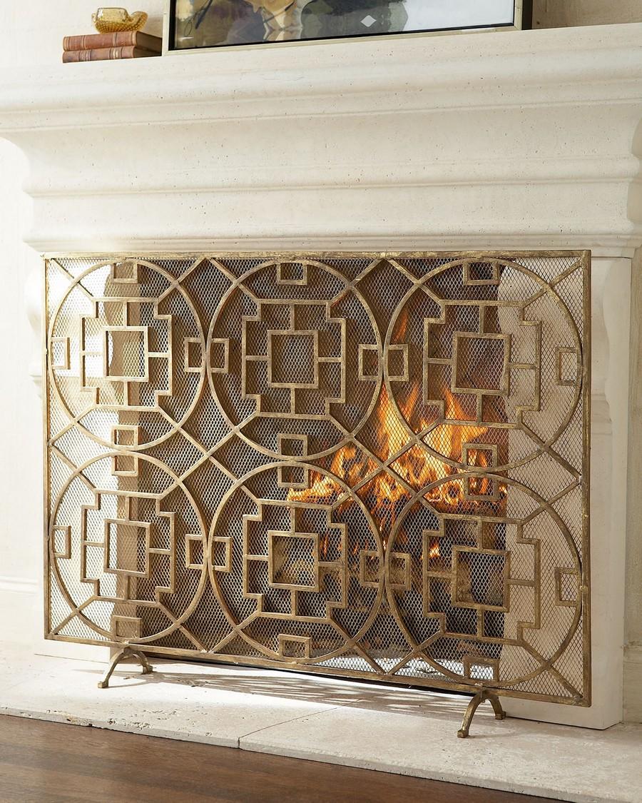 decorative fireplace screen ideas 1