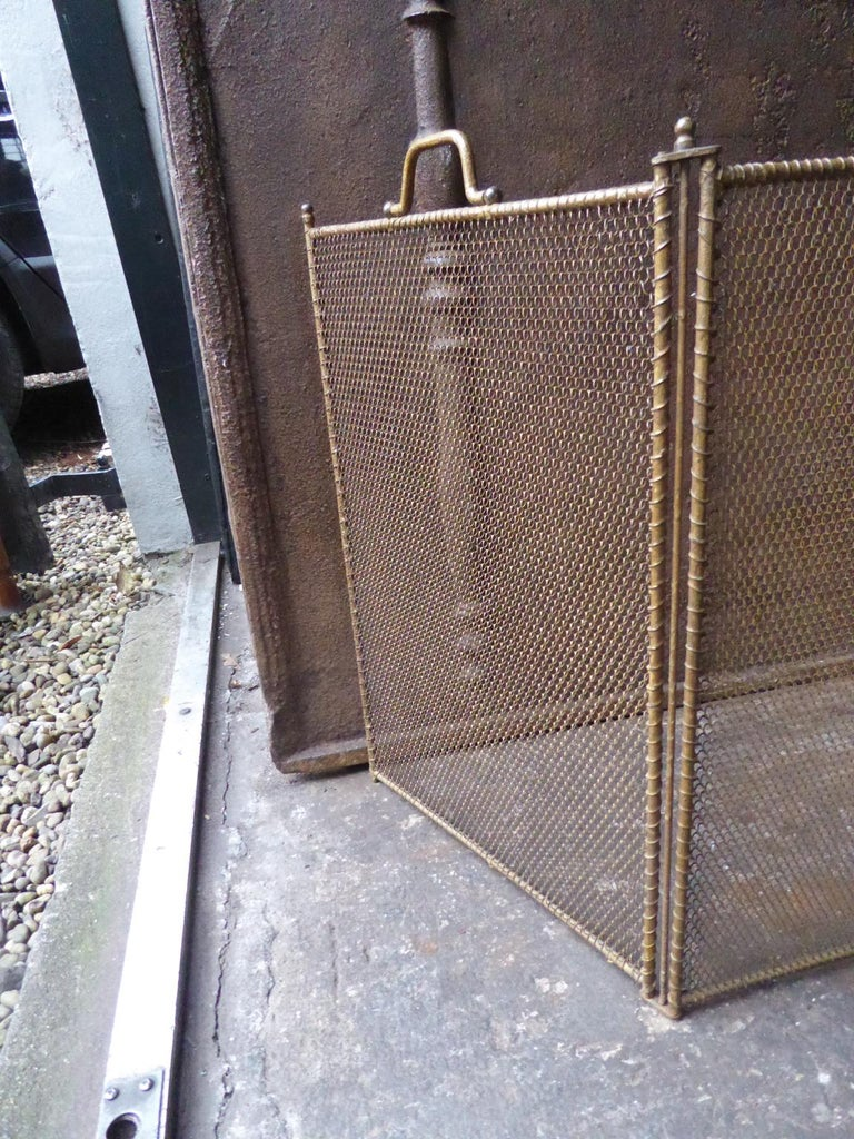 Antiqued Brass Fireplace Screen Awesome Antique French Napoleon Iii Fireplace Screen Brass Colored 19th Century