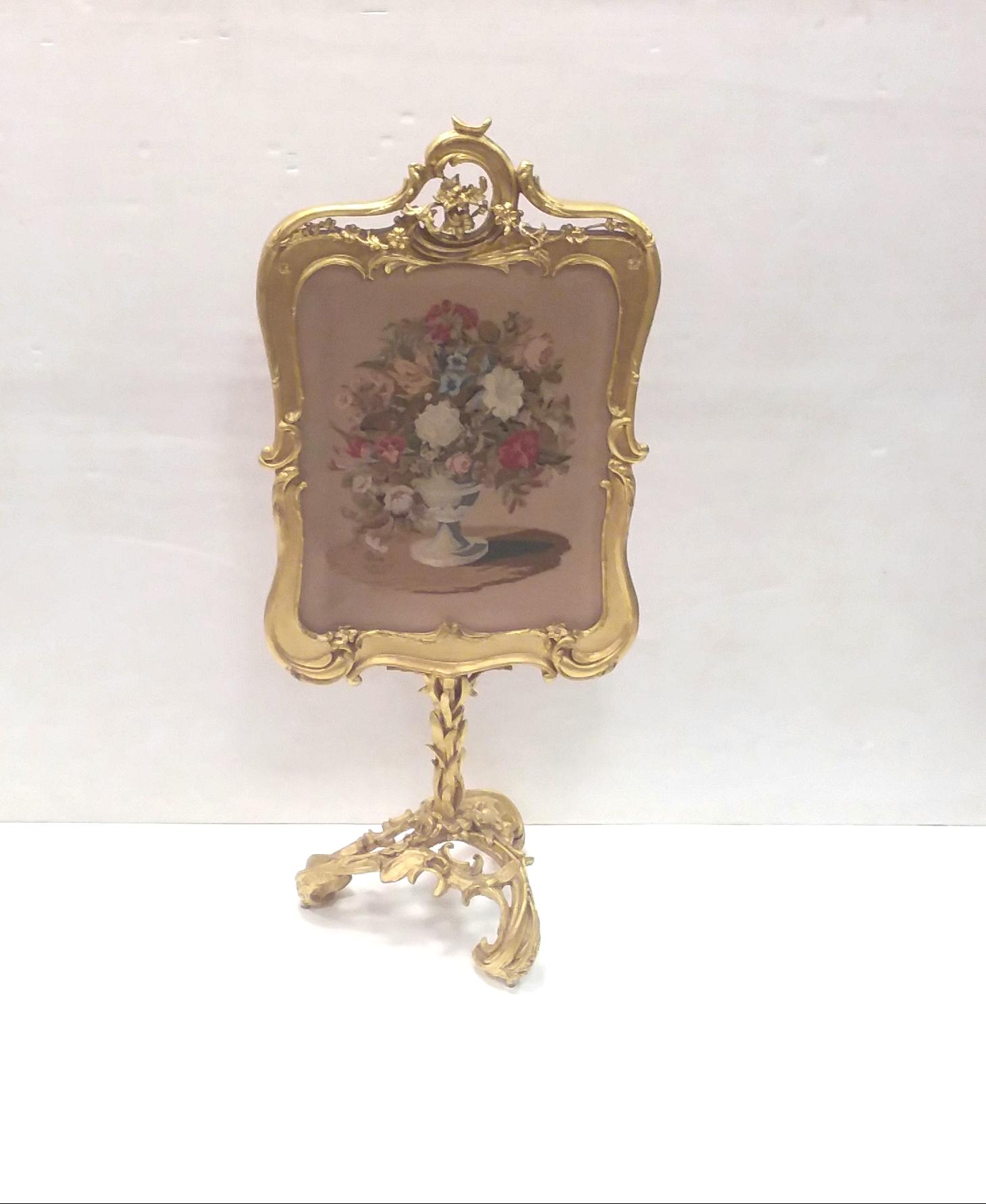 Antiqued Brass Fireplace Screen Best Of Antique 19th Century Gilt Face Screen