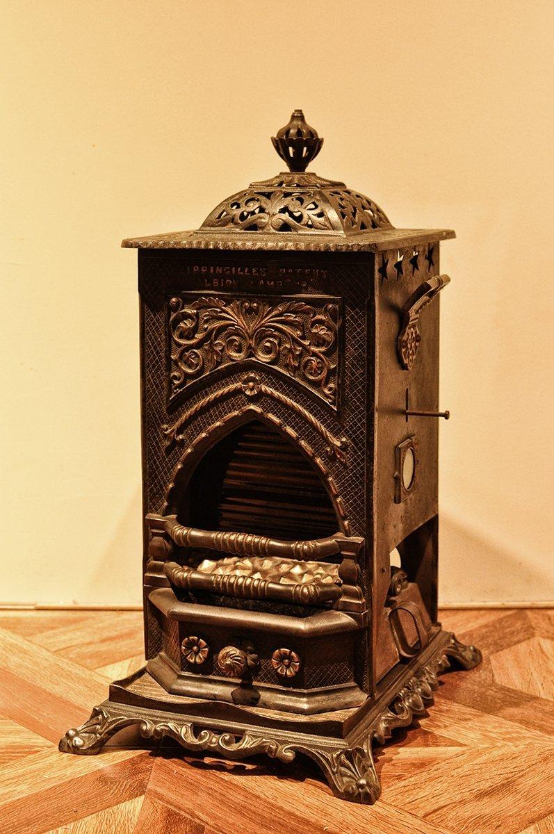 【儲藏飾歐洲古董家具】 法國古董煤油壁爐 煤油燈 壁爐