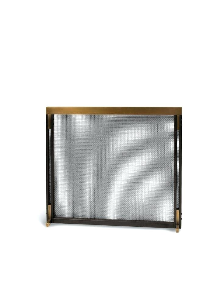 Antiqued Brass Fireplace Screen Lovely Mid Century Fireplace Screen – Richardlordine