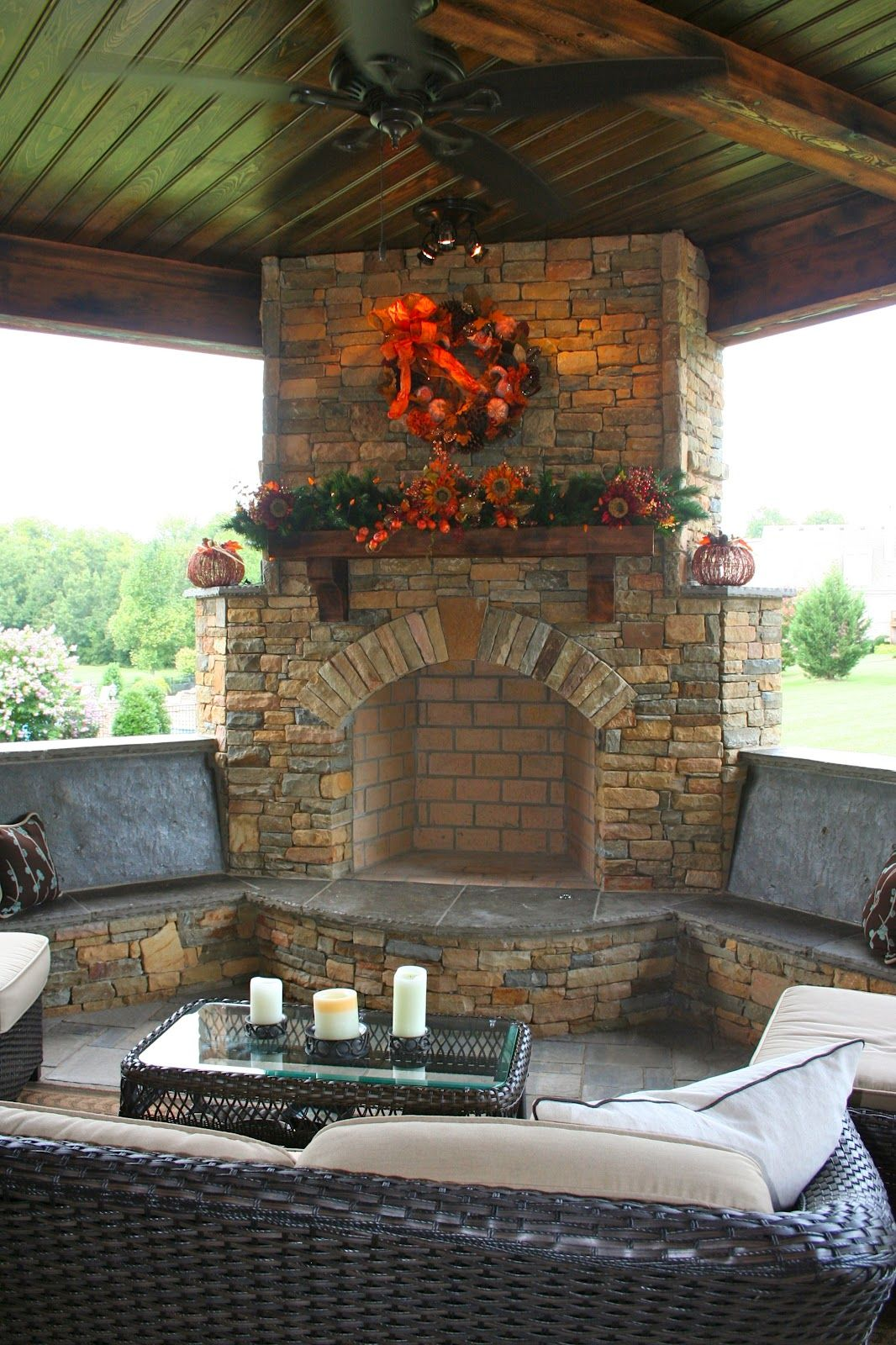Fireplace Benches Fresh Stone Fireplace and Bench Seating