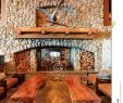 Fireplace Benches Inspirational Restaurant Bar Fireplace with Wooden Benches Stock Image