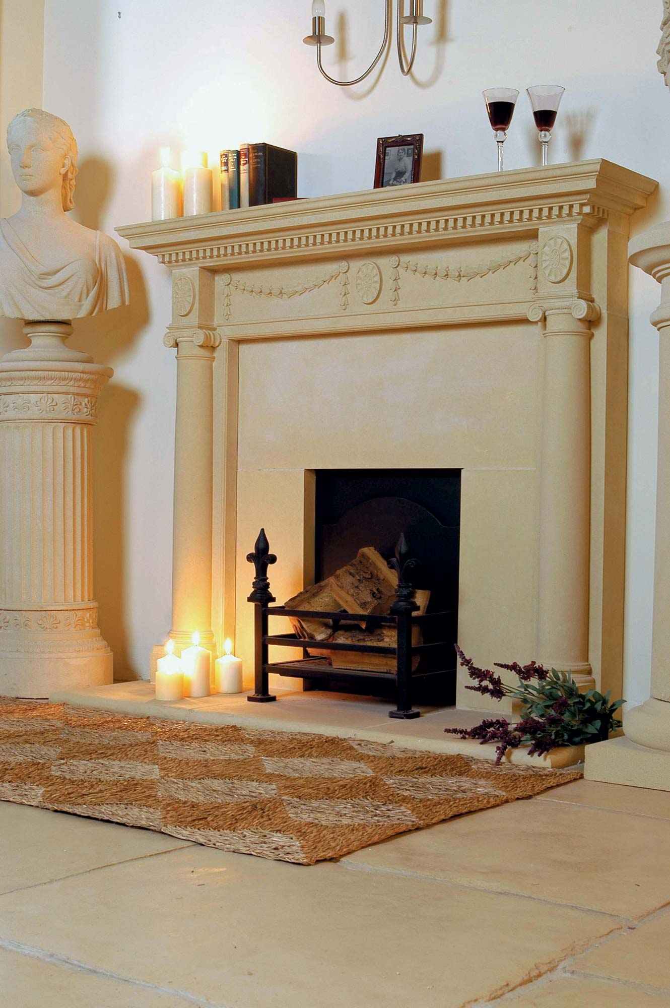 Fireplace Benches New Adam Fireplace Rebated Including Slips and Hearth