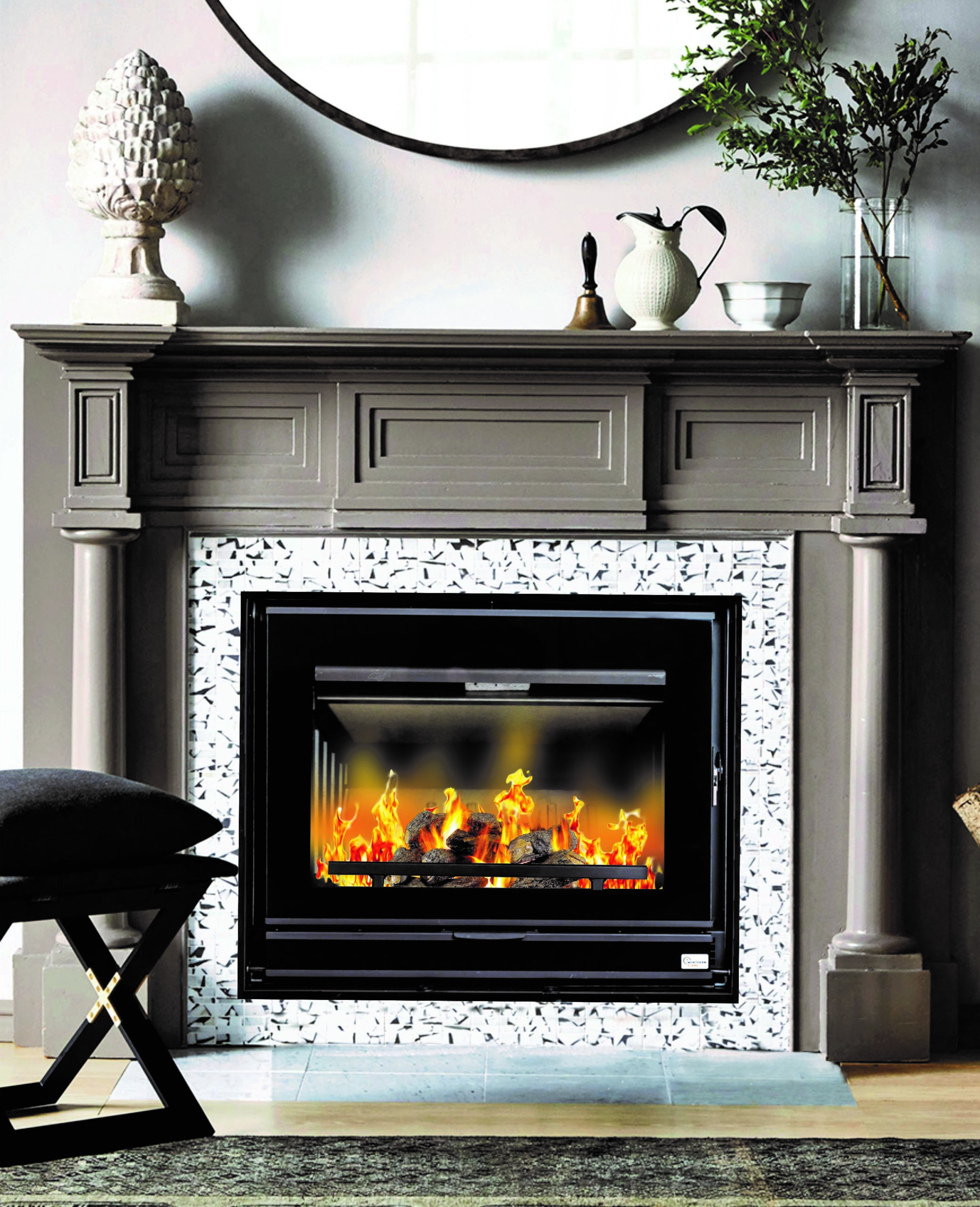 Fireplace Grate with Blower Inspirational northern Flame Vesta 70