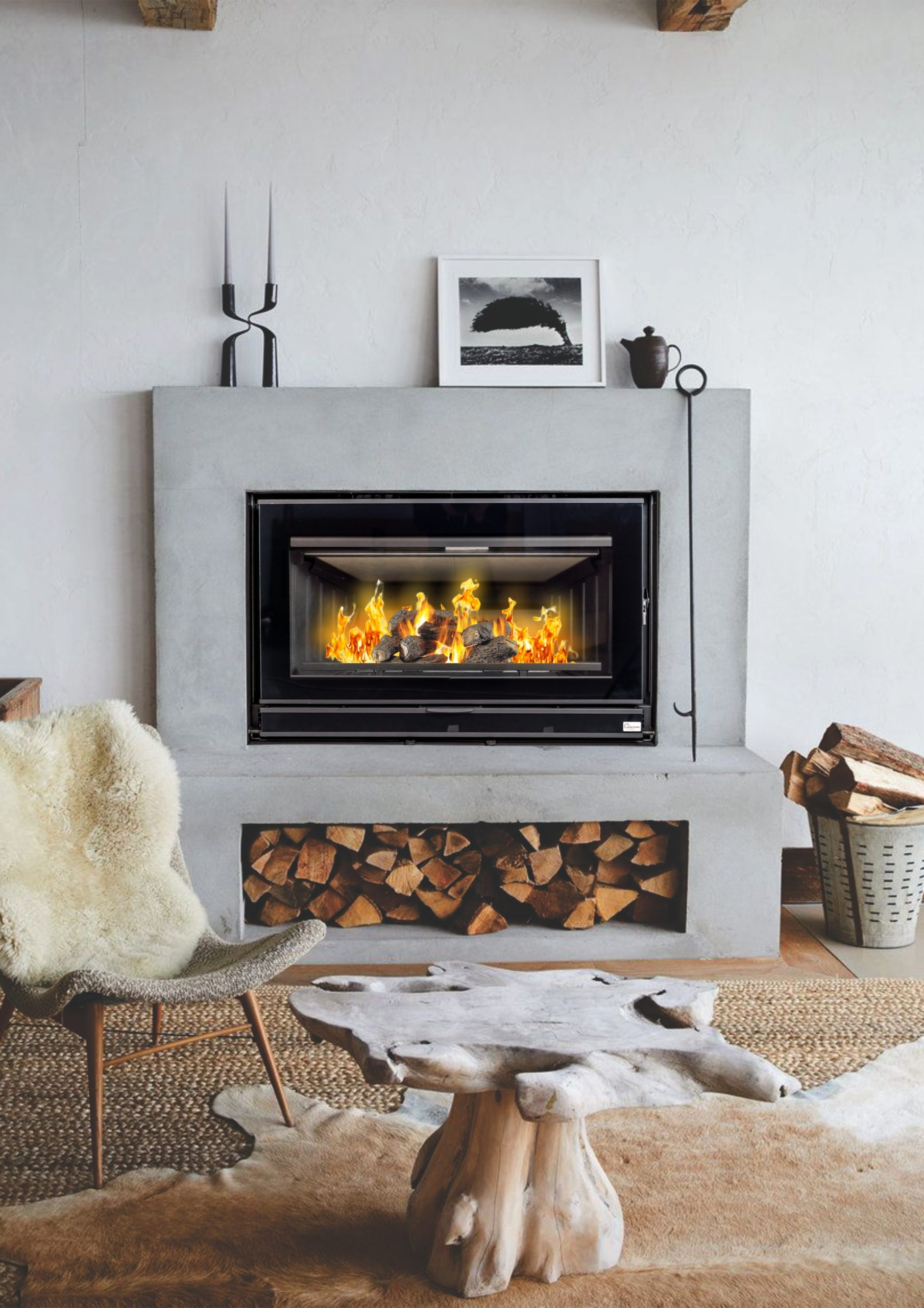 Fireplace Grate with Blower Inspirational northern Flame Vesta 90