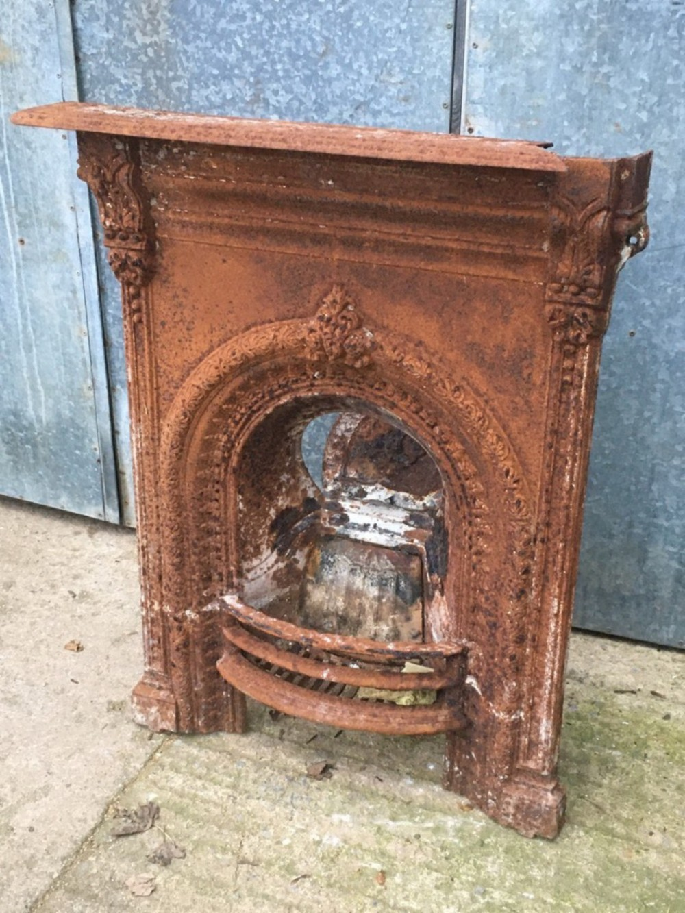 Fireplace Grate with Blower Lovely 2'7 X 3'5 Reclaimed Victorian Cast Iron Fireplace Grate Damaged Repair