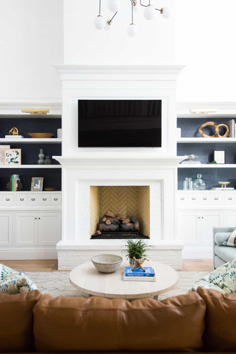Fireplace Wall Unit Awesome 30 Stunning White Brick Fireplace Ideas Part 1