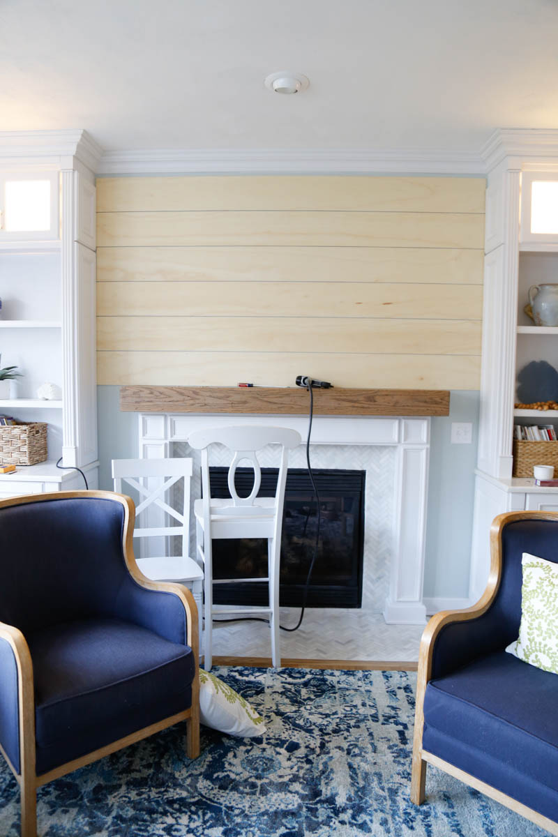 Fireplace Wall Unit Awesome Easy and Inexpensive Shiplap Fireplace Wall Sand and Sisal