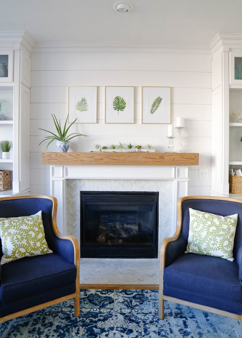 Shiplap Fireplace Wall 13