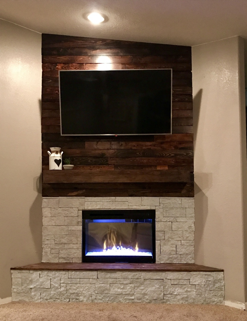 """Fireplace Wall Unit Beautiful How to Paint Sandstone Fireplace – Fireplace Ideas From """"how"""