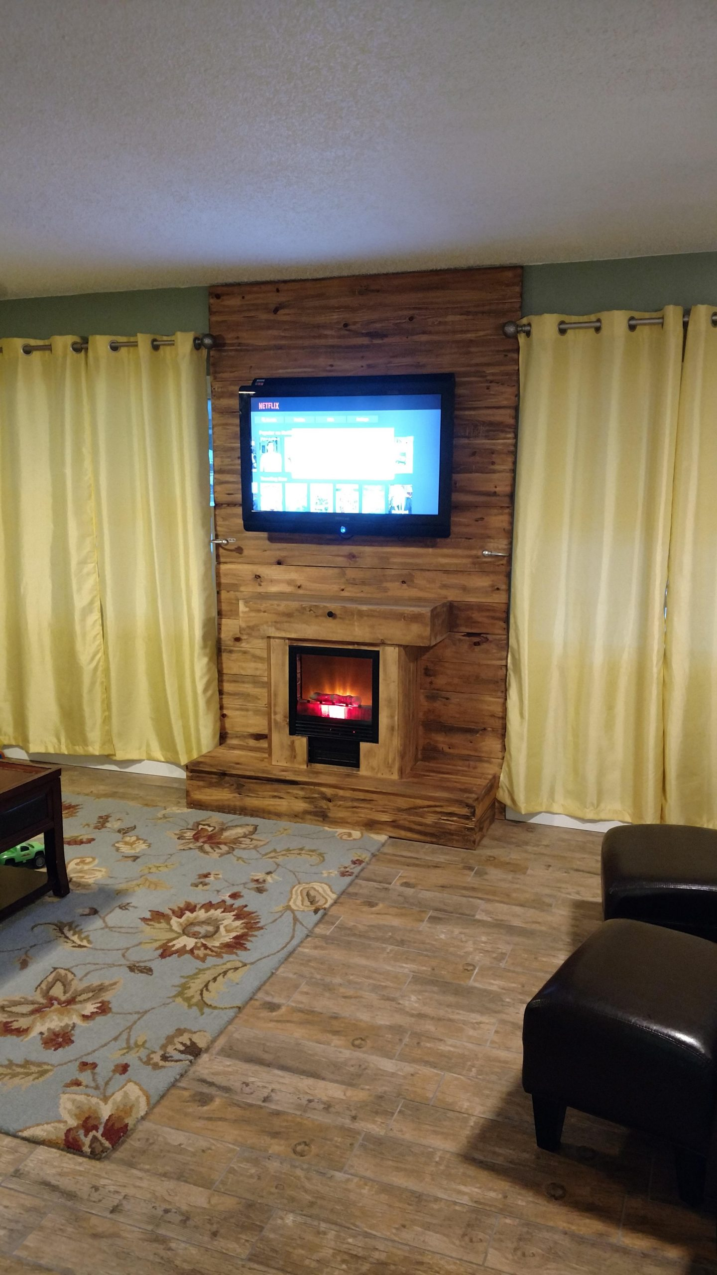 Fireplace Wall Unit Best Of Tv Fireplace Wall Unit Pallet Wood Palletfurniture