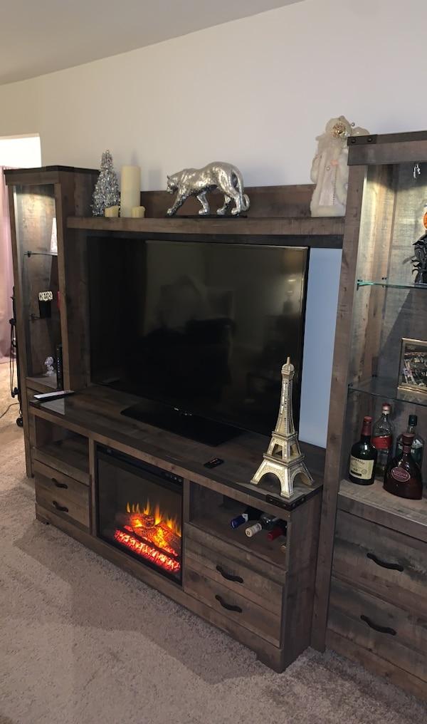 Fireplace Wall Unit Elegant ashley Stewart Wall Unit Fireplace