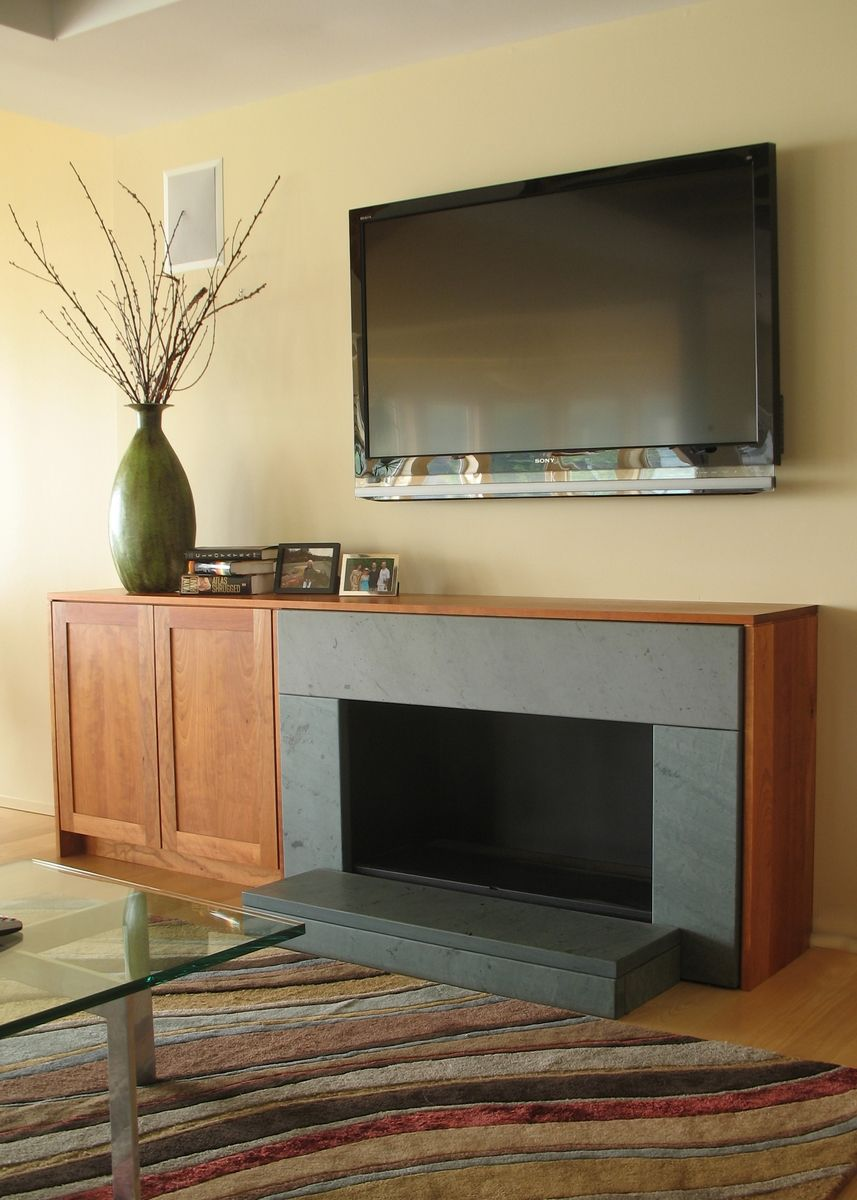 Fireplace Wall Unit Elegant Hand Made Cherry Tv Cabinet and Fireplace Surround by Ober