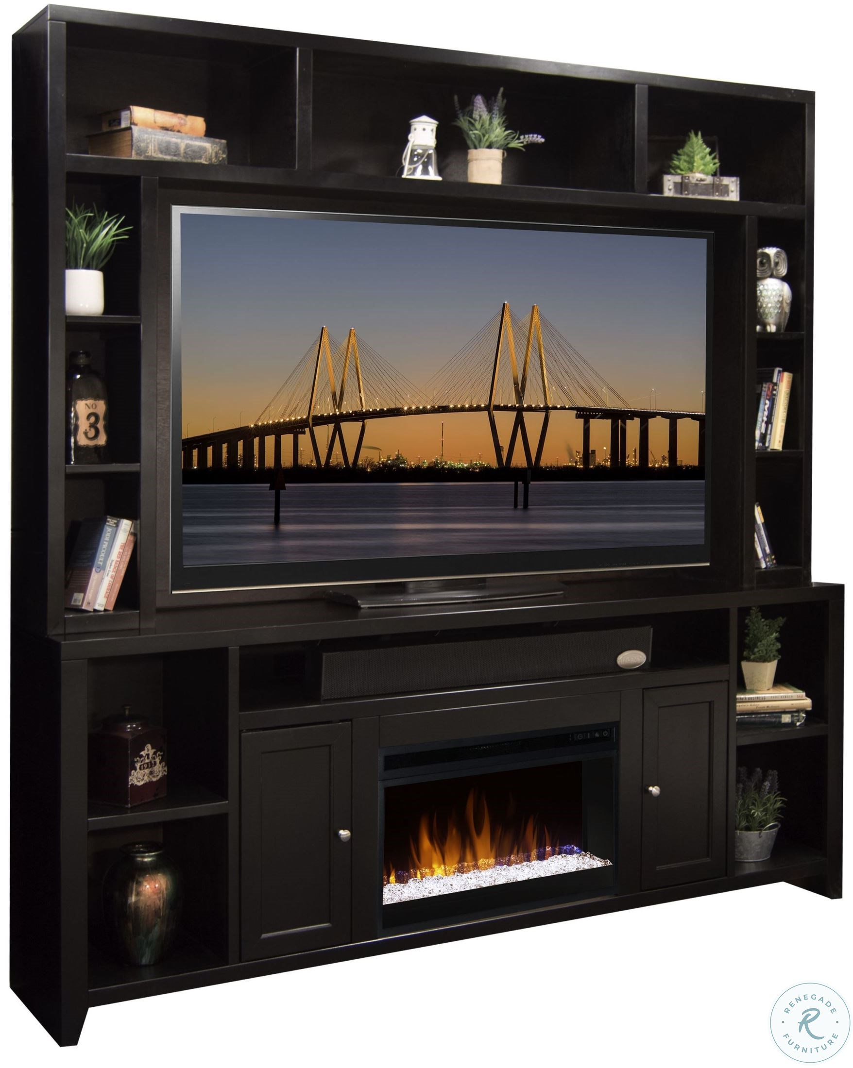 Fireplace Wall Unit Lovely townser Grayish Brown Entertainment Wall Unit with Electric