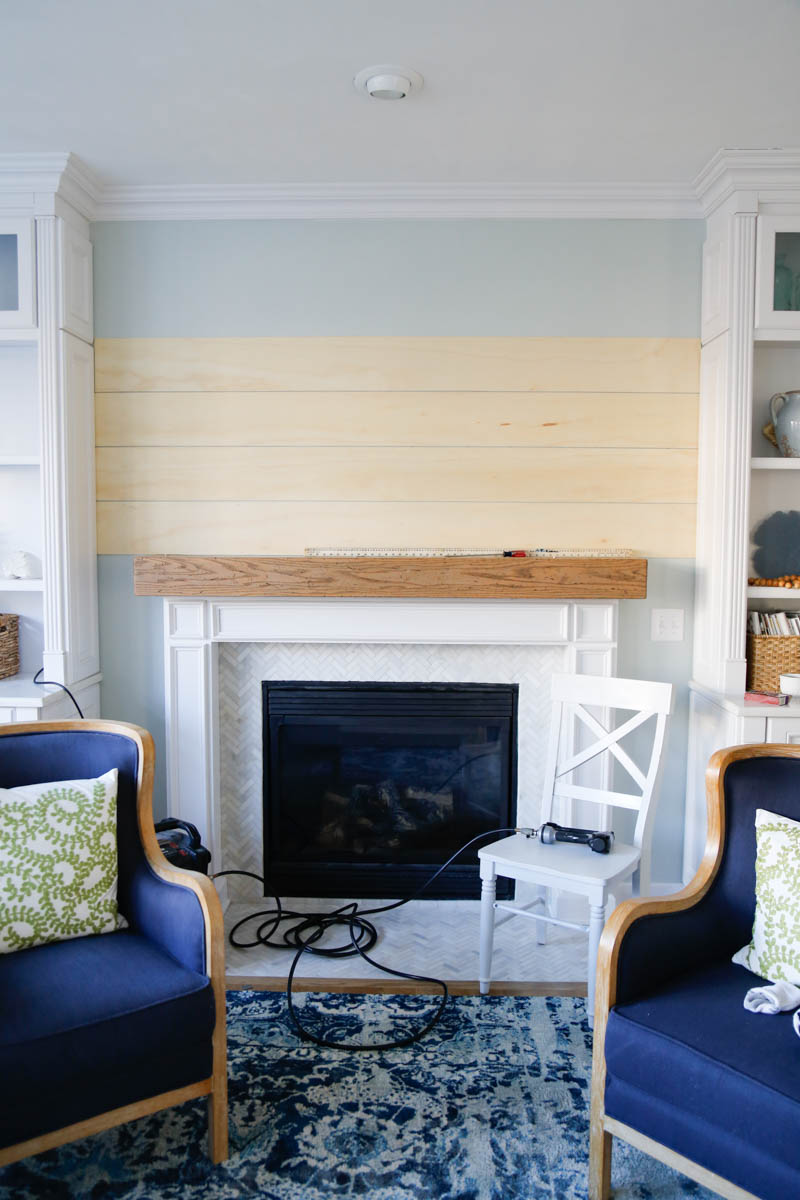 Shiplap Fireplace Wall 7