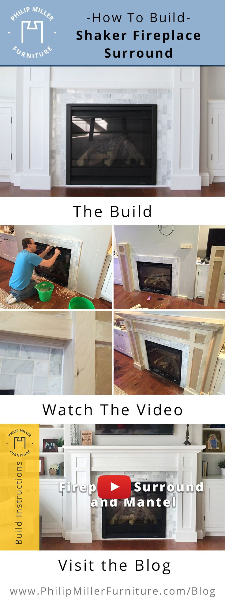 Shaker Fireplace Beautiful How to Build A Shaker Fireplace Mantel and Surround