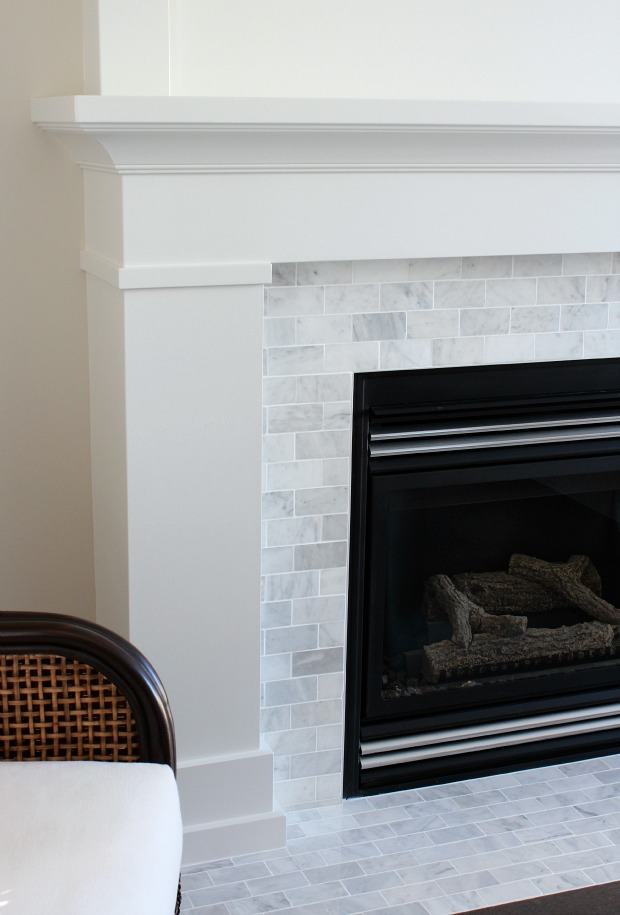 Shaker Fireplace Elegant White & Marble Fireplace the Makeover Details Satori