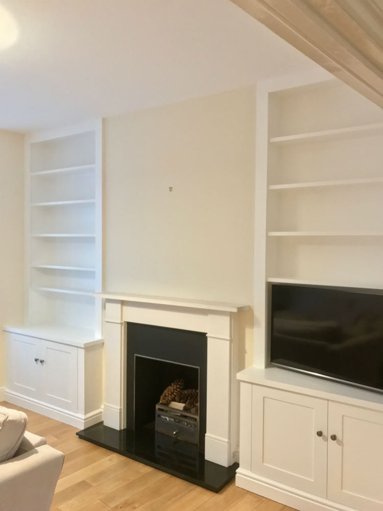 Shaker Fireplace Fresh Contemporary Shaker Style Alcove Units In Twickenham the