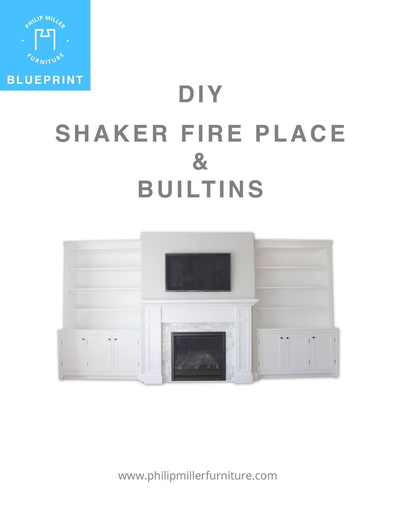 Shaker Fireplace Lovely Build Buleprints for A Shaker Style Fireplace Cabinets and Bookshelves