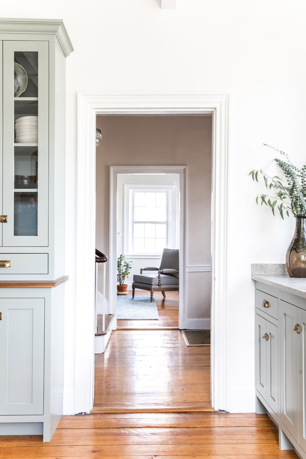 a shaker style kitchen for a 30 something couple in maine