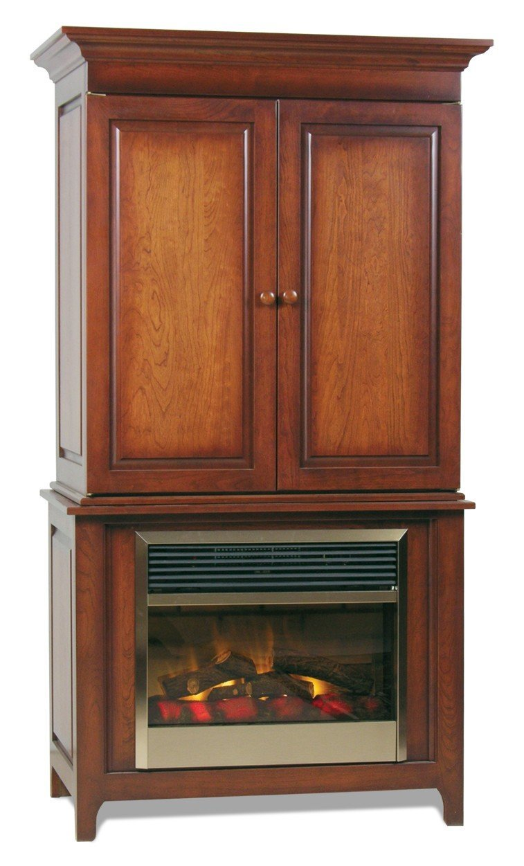 pid 2874 Amish Shaker Entertainment Electric Fireplace 10