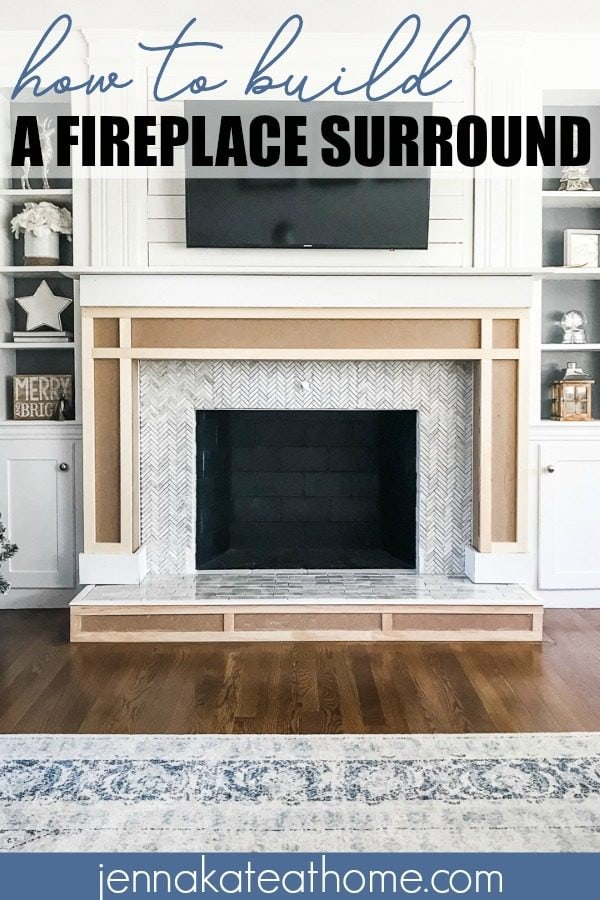 Shaker Fireplace Unique How to Build A Fireplace Surround Jenna Kate at Home