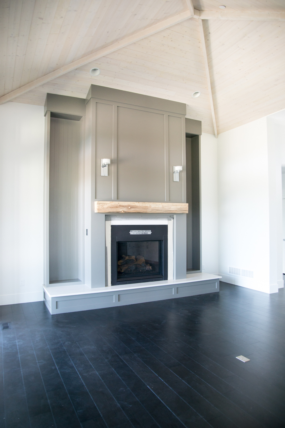 Shaker Fireplace Unique Whitetail Home — Pro Edge Custom Woodwork
