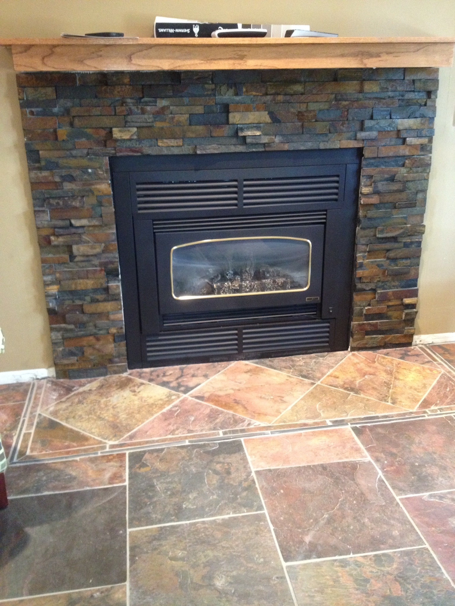 Slate Tiles for Fireplace Awesome Interior Stone and Tile