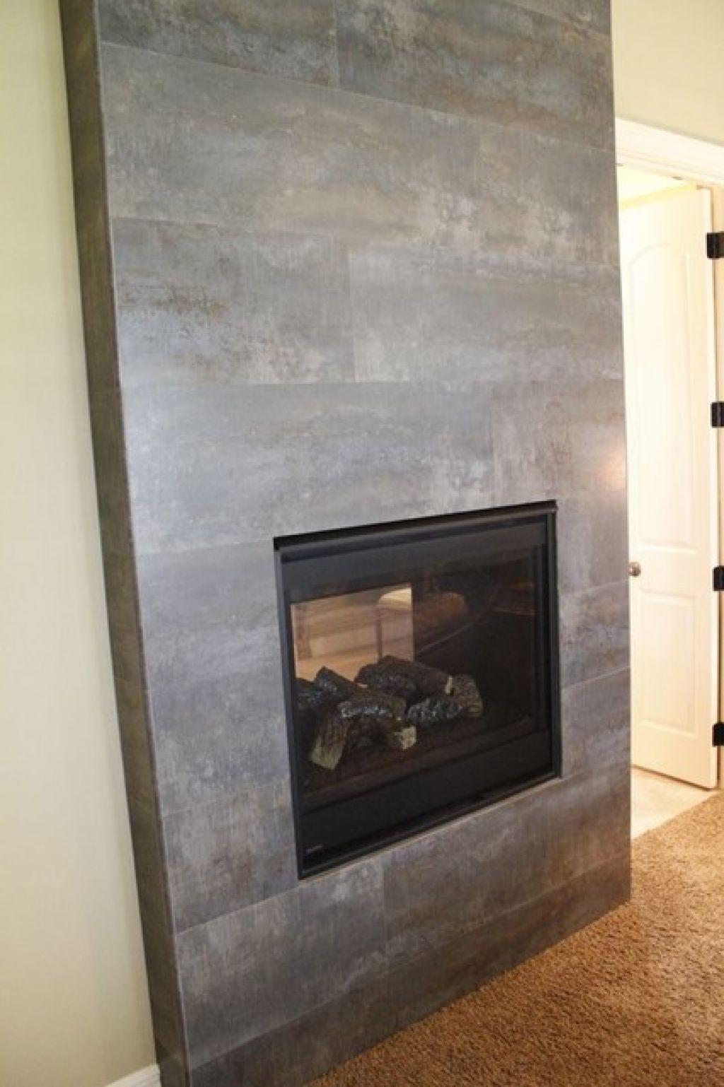 Slate Tiles for Fireplace Beautiful Slate Tile Fireplace