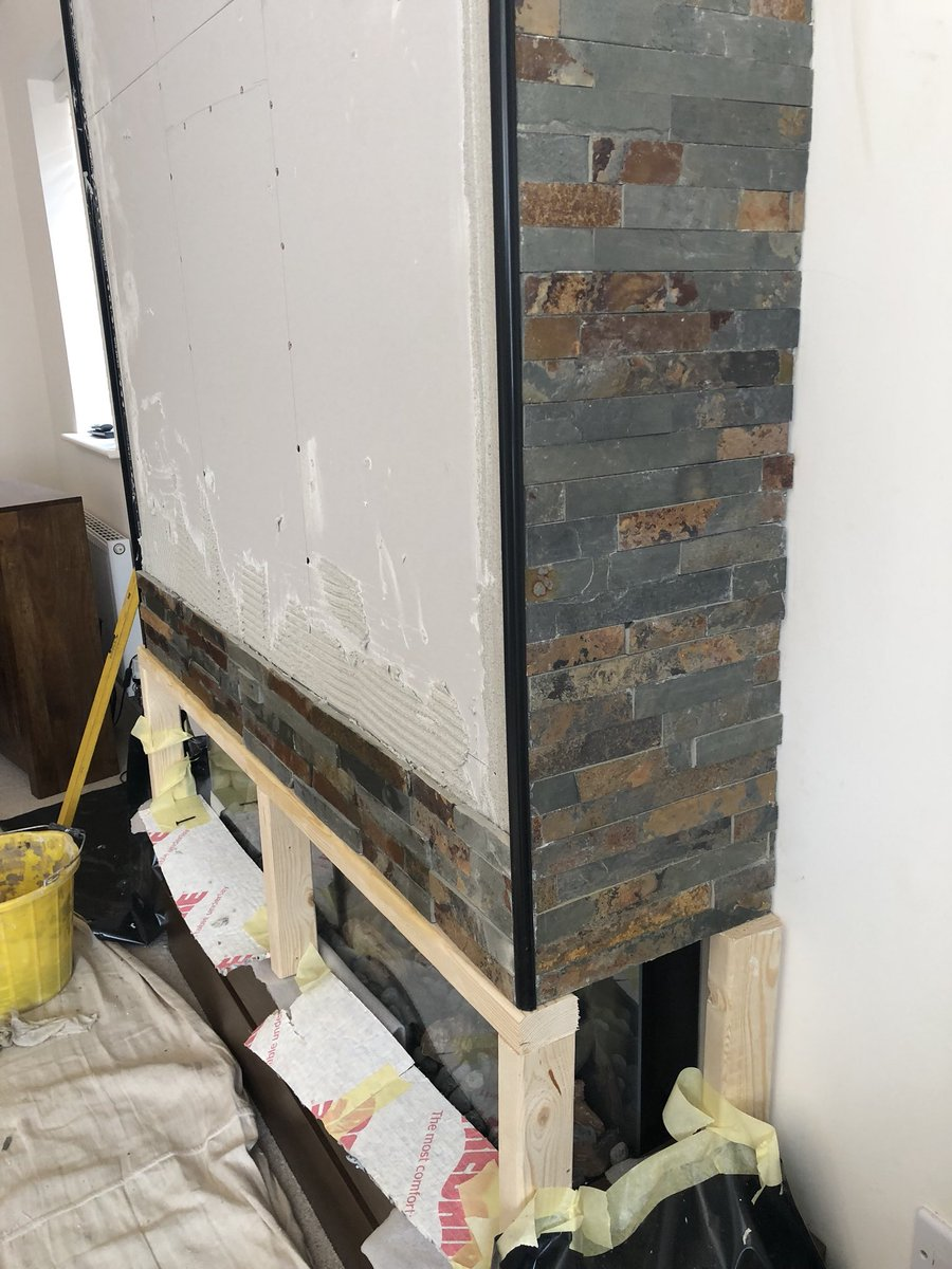 """Slate Tiles for Fireplace Best Of Focus Fireplaces Twitterissä """"another Job Pleted Here"""
