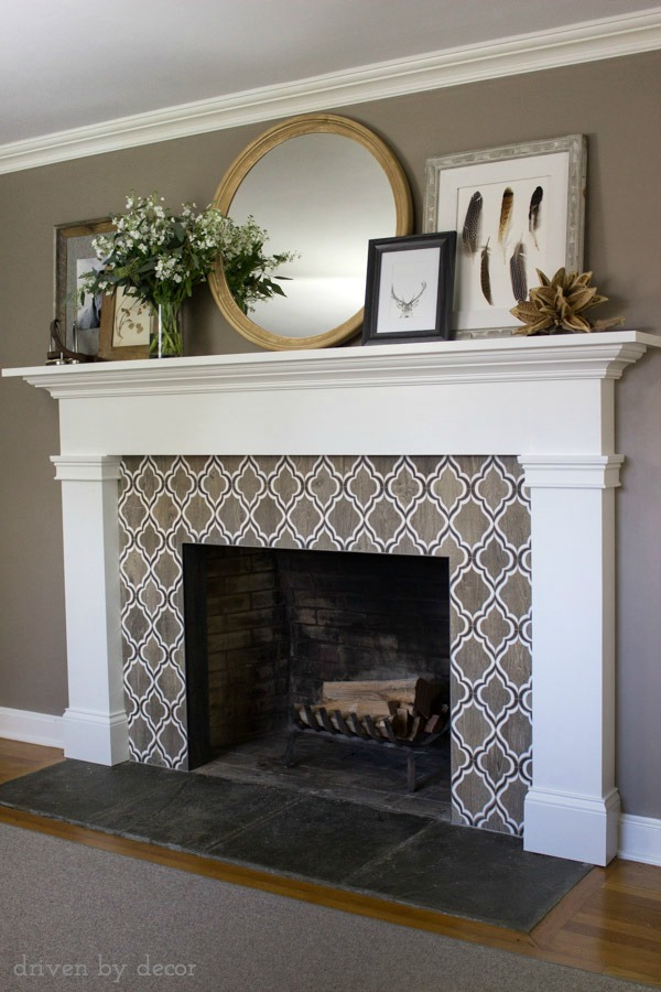 Slate Tiles for Fireplace Elegant Our New Fireplace