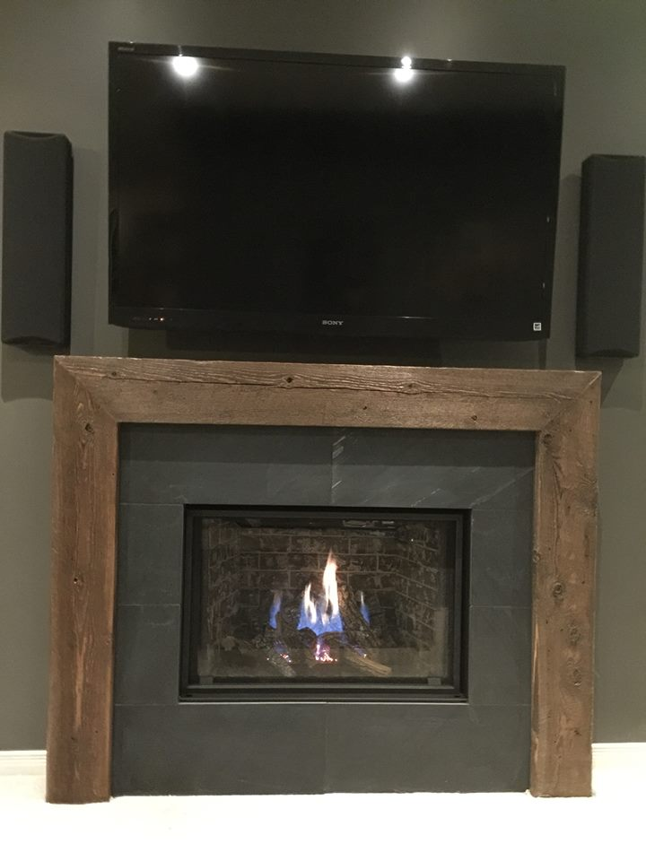 Slate Tiles for Fireplace Fresh Fireplaces – Jmf Custom Wood Features L Barndoors • Feature