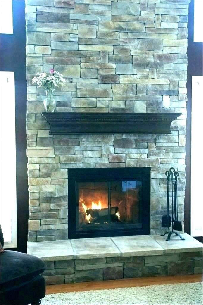 Slate Tiles for Fireplace Lovely Stacked Stone Tile Fireplace – Znalifo