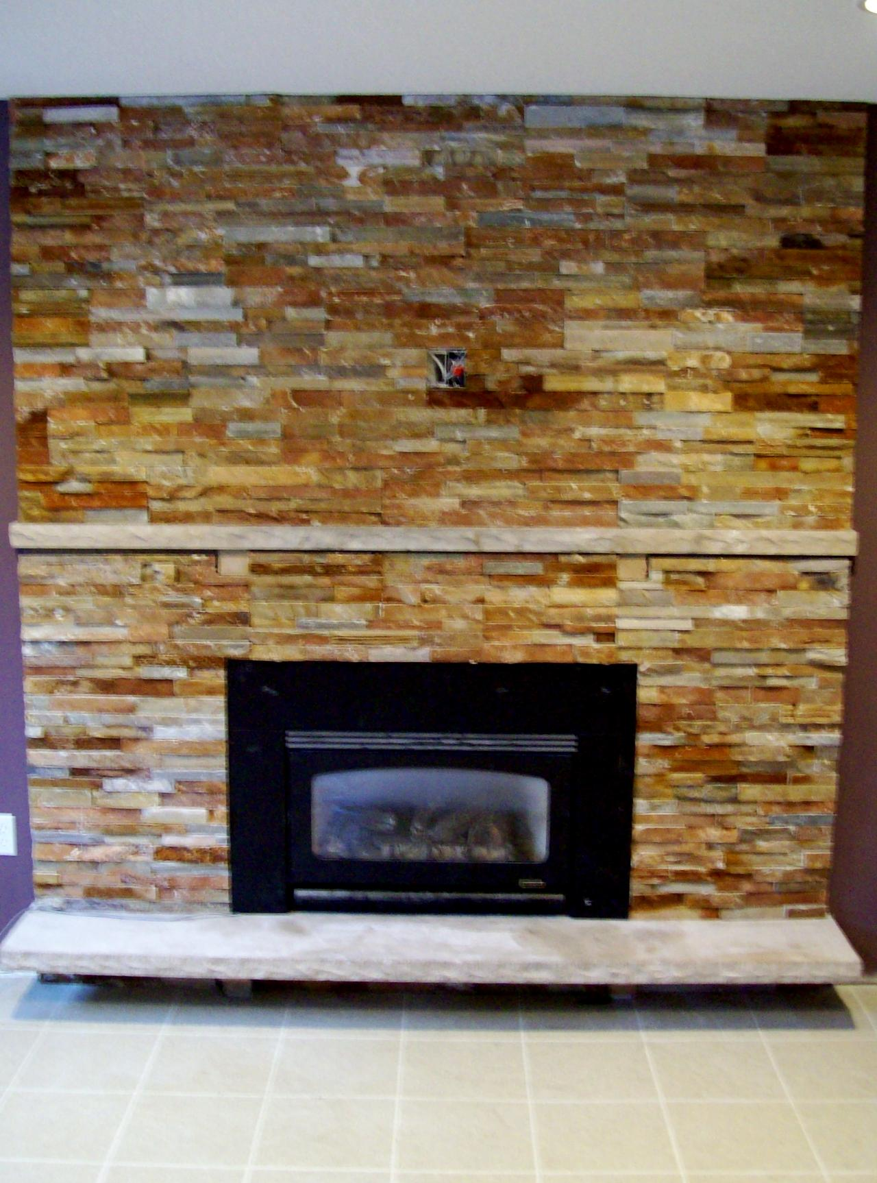 slate tile for a fireplace 2