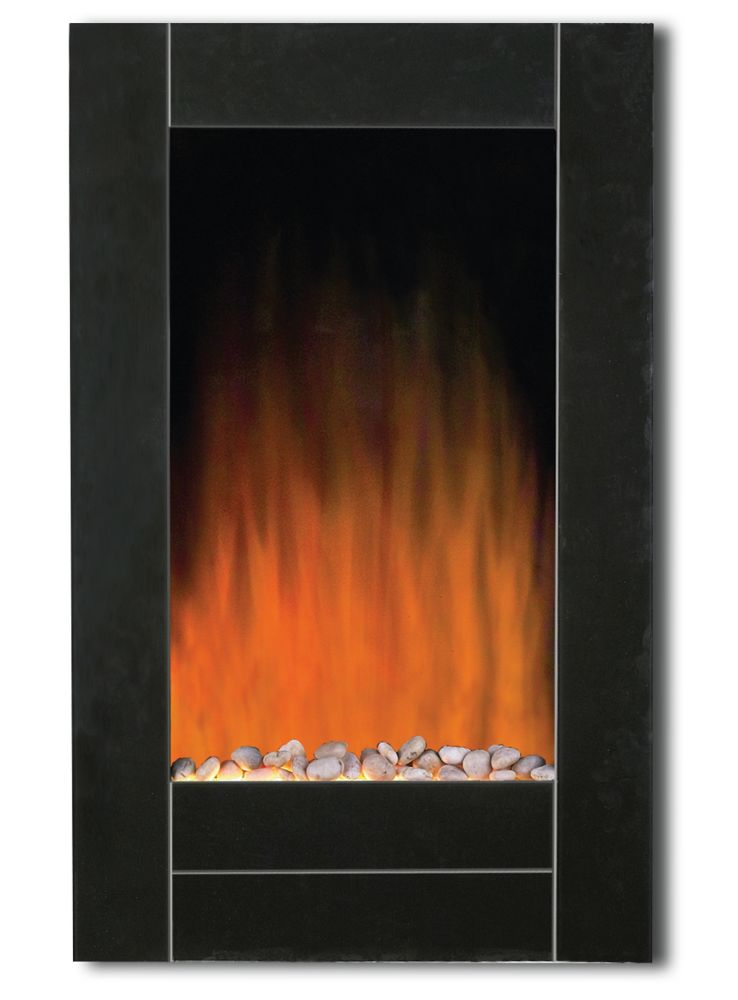 Wall Mounted Natural Gas Fireplace Awesome Black Bevel Edge Glass Front Wall Mount Fireplace