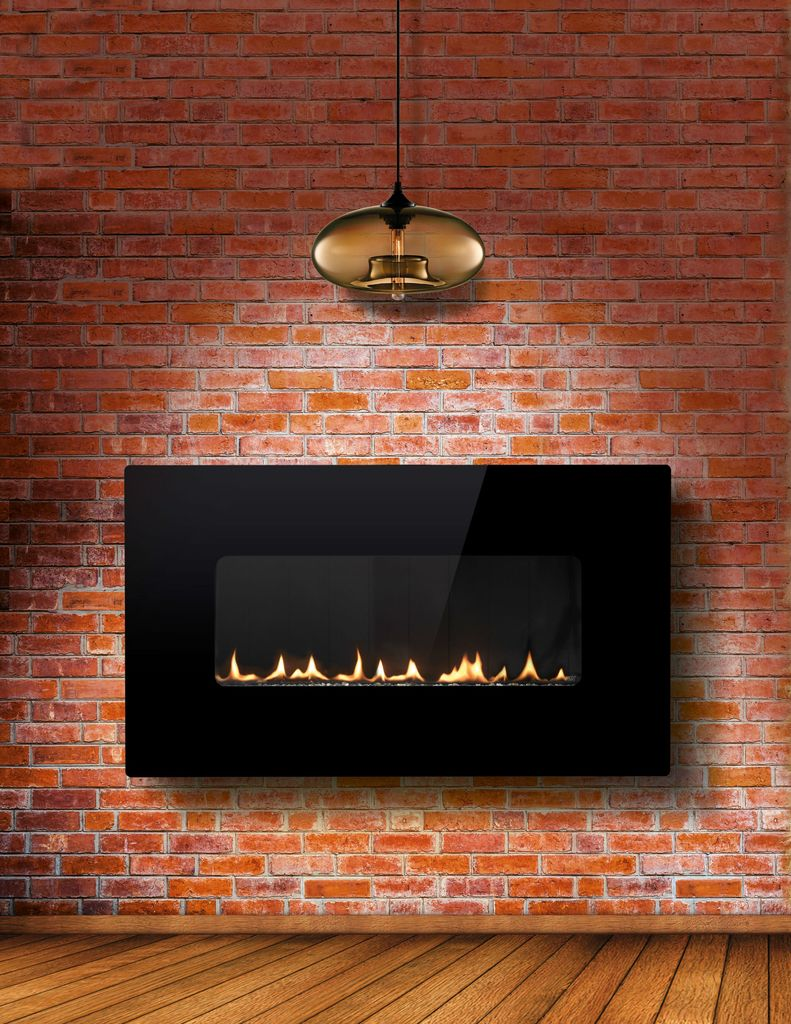 Wall Mounted Natural Gas Fireplace Awesome Esse 48 Landscape Wall Mounted Flueless Gas Fire