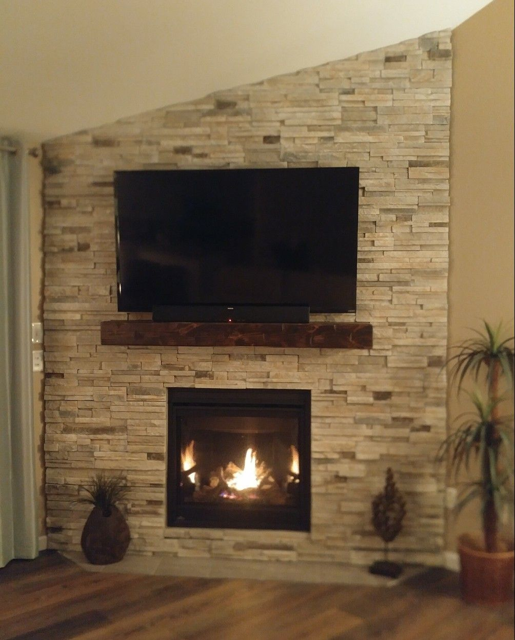 Wall Mounted Natural Gas Fireplace Lovely Corner Fireplace Remodel Makeover with Tv Mounted Above